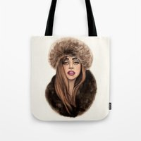 russian Tote Bags featuring Russian Princess by Helen Green