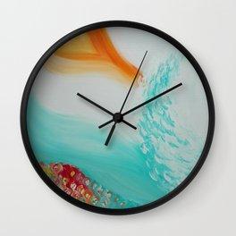 """Cristalda e Pizzomunno"" Original oil finger painting by Monika Toth Wall Clock"