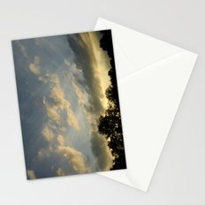 August skies falling into dark Stationery Cards