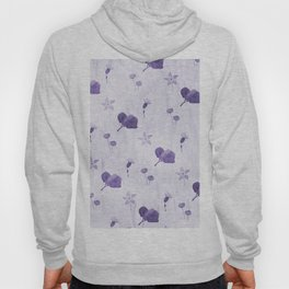 Purple flowers pattern Hoody