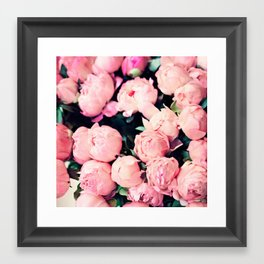 Paris Peonies in Pink Framed Art Print