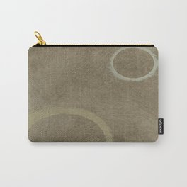 Two Circles - Modern Art - Abstract - Fine Art - California Cool - Popular Painterly Carry-All Pouch