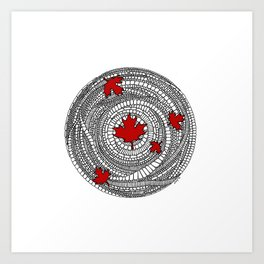 Canadian Maple Red Art Print