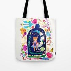 Little fox in Secret place Tote Bag