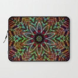 Christmas Colors Kaleidoscope Mandala Laptop Sleeve