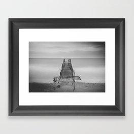Tranquil Blues - BW Framed Art Print