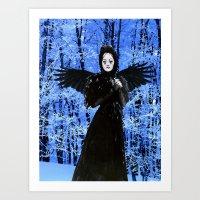 edgar allan poe Art Prints featuring Nevermore - Edgar Allan Poe by Danielle Tanimura