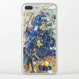Truro Grapes Clear iPhone Case