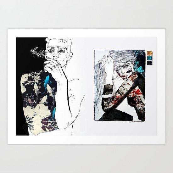 east meets west Art Print