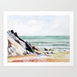 Devon Beach Art Print