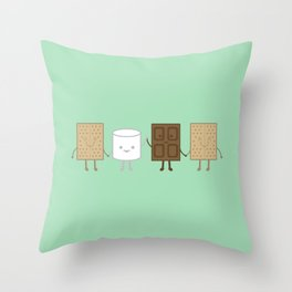 Life is S'more Fun Together (Mint) Throw Pillow