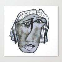 depression Canvas Prints featuring Depression  by Ashley Grebe