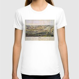 Vintage Map of The Gettysburg Battlefield (1863) T-shirt
