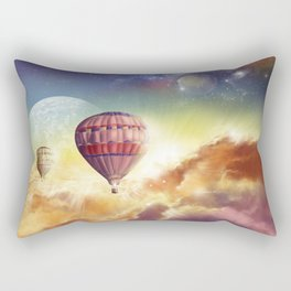 clouds,sky and ballons Rectangular Pillow