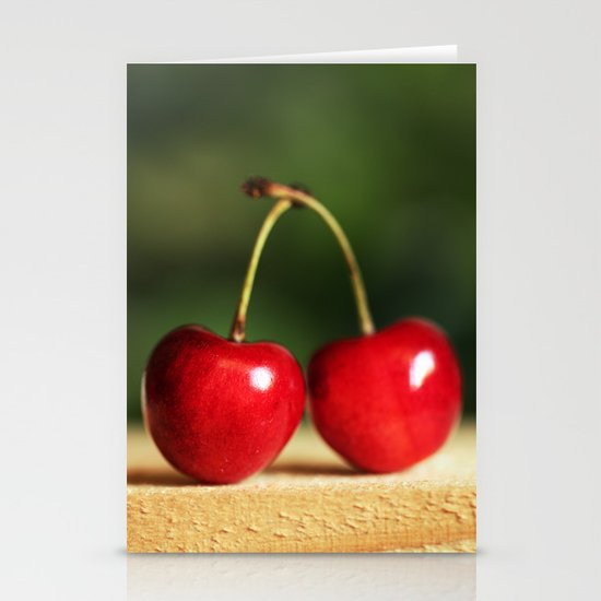 Sweet cherries Stationery Cards