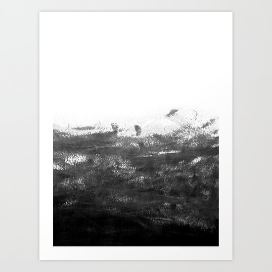 Durand black and white minimal painting india ink brushstrokes