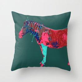 Electric Quagga Throw Pillow