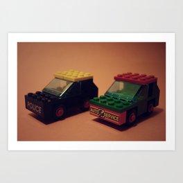 two vintage cars Art Print