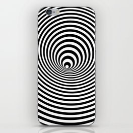 Vortex, optical illusion black and white iPhone Skin
