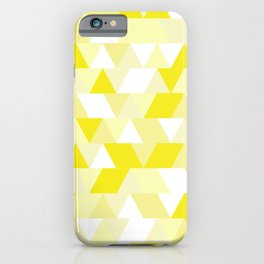 Simple Geometric Triangle Pattern - White on Yellow - Mix & Match with Simplicity of life iPhone Case