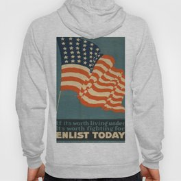 Vintage poster - Enlist Today Hoody