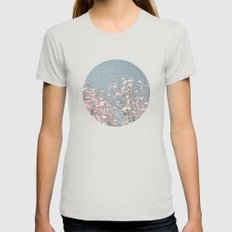 Out of This World Womens Fitted Tee Silver MEDIUM