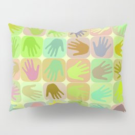 Multicolored hands pattern Pillow Sham