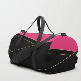 Angelica . Raspberry , black Duffle Bag