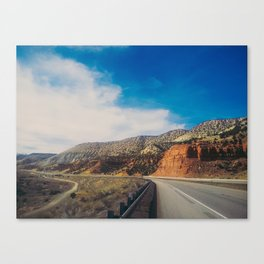 Utah Desert Road Canvas Print