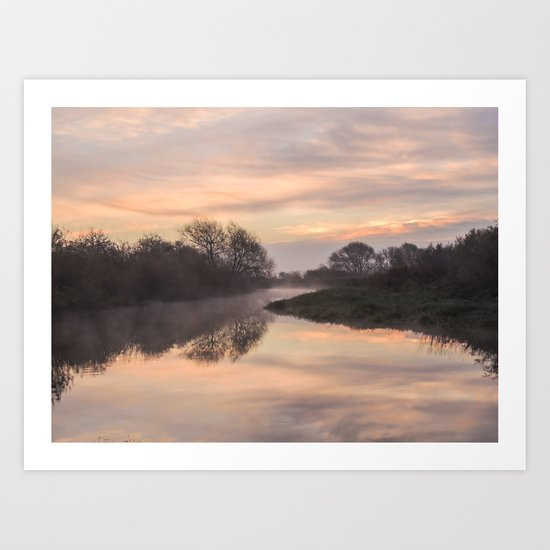 Misty Idle Sunrise Art Print
