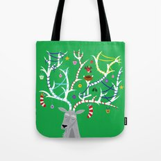 The Reindeer and The Robin Tote Bag
