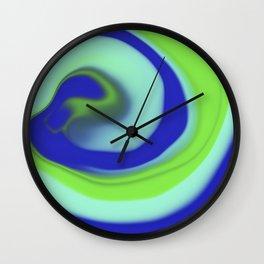 Green blue abstract pattern Wall Clock