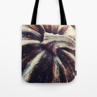pumpkin Tote Bags featuring PUMPKIN  by Christina Lynn Williams
