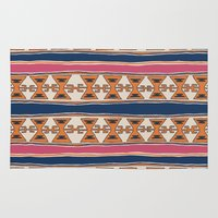 kilim Area & Throw Rugs featuring Cleveland 3 by Little Brave Heart Shop