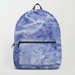 Deep blue sea marble texutre Backpack