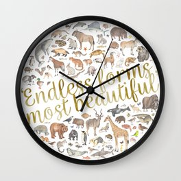 Endless forms most beautiful Wall Clock