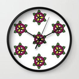 Floral 13 Wall Clock