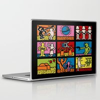 keith haring Laptop & iPad Skins featuring Keith Haring & star W.2 by le.duc