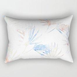 Palmetto Fronds Pattern Pastel Pink Blue Rectangular Pillow
