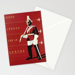 vechio sabena verso londra con la sabena aviation Stationery Cards