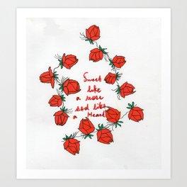 Sweet like a rose Art Print