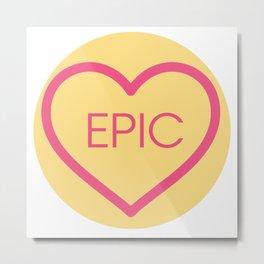 Conversation Love Heart - Epic Metal Print