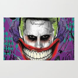 Suicide Squad The Joker - Jared Leto Movie Poster Rug