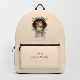 PURRFECT CHRISTMAS greeting card Backpack