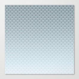 Gray blue geometric pattern Canvas Print