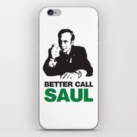 better call saul iPhone & iPod Skins featuring Better Call Saul by Harry Martin