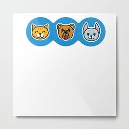 Pet Shop Cat Dog Metal Print