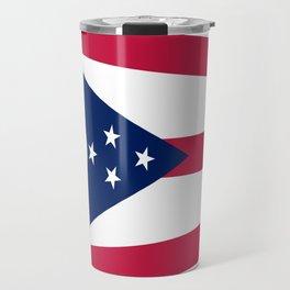 flag of Ohio,Midwest,Ohioan,Buckeye,Colombus,Cleveland,Cincinnati,Usa,america,united states,us Travel Mug