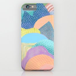 Modern Landscapes and Patterns iPhone Case
