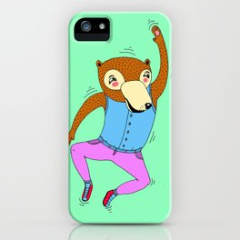 The Swimming Bear iPhone Case
